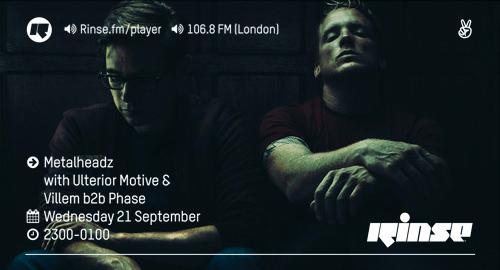 Ulterior Motive & Villem b2b Phase - Metalheadz # Rinse FM [21.09.2016]
