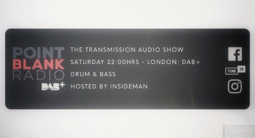 The Transmission Audio Show - Hosted by Insideman: Point Blank DAB+ London: 25th July 2021