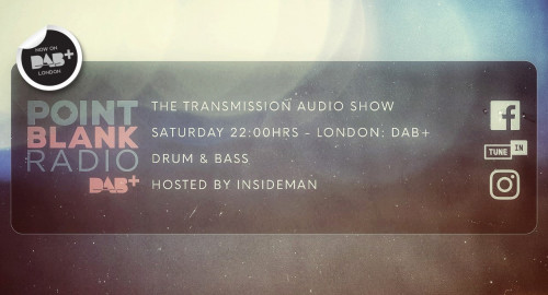The Transmission Audio Show - Hosted by Insideman: Point Blank DAB+ London: 26th June 2021