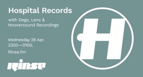 Degs, Lens & Hooversound Recordings - Hospital Records # Rinse FM [28.04.2021]