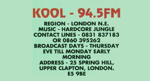 Bryan Gee - Kool FM [04.02.1996]