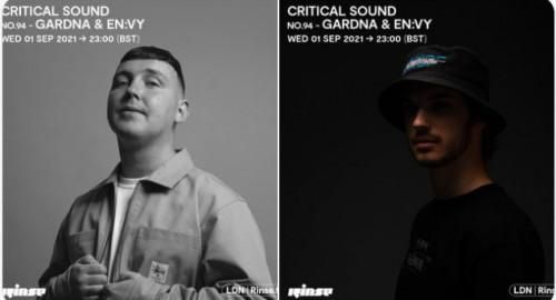 Gardna & En:vy - Critical Sound No.94 # Rinse FM [01.09.2021]