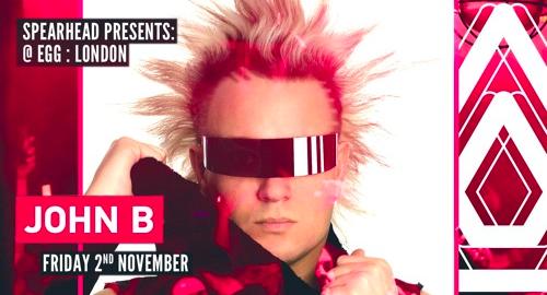 John B - Promo Mix for Spearhead Presents, 2nd Nov # EGG:LDN [Oct.2018]