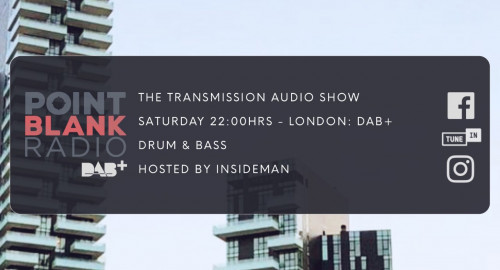 The Transmission Audio Show - Hosted by Insideman: Point Blank DAB+ London: 21st August 2021
