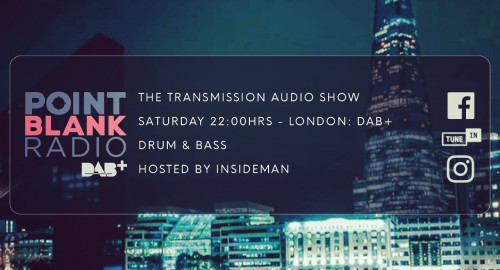 The Transmission Audio Show - Hosted by Insideman: Point Blank DAB+ London: 18th Sept. 2021